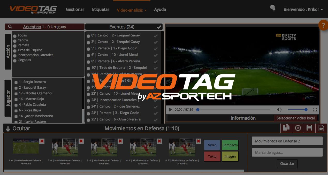 AZsportech videotag